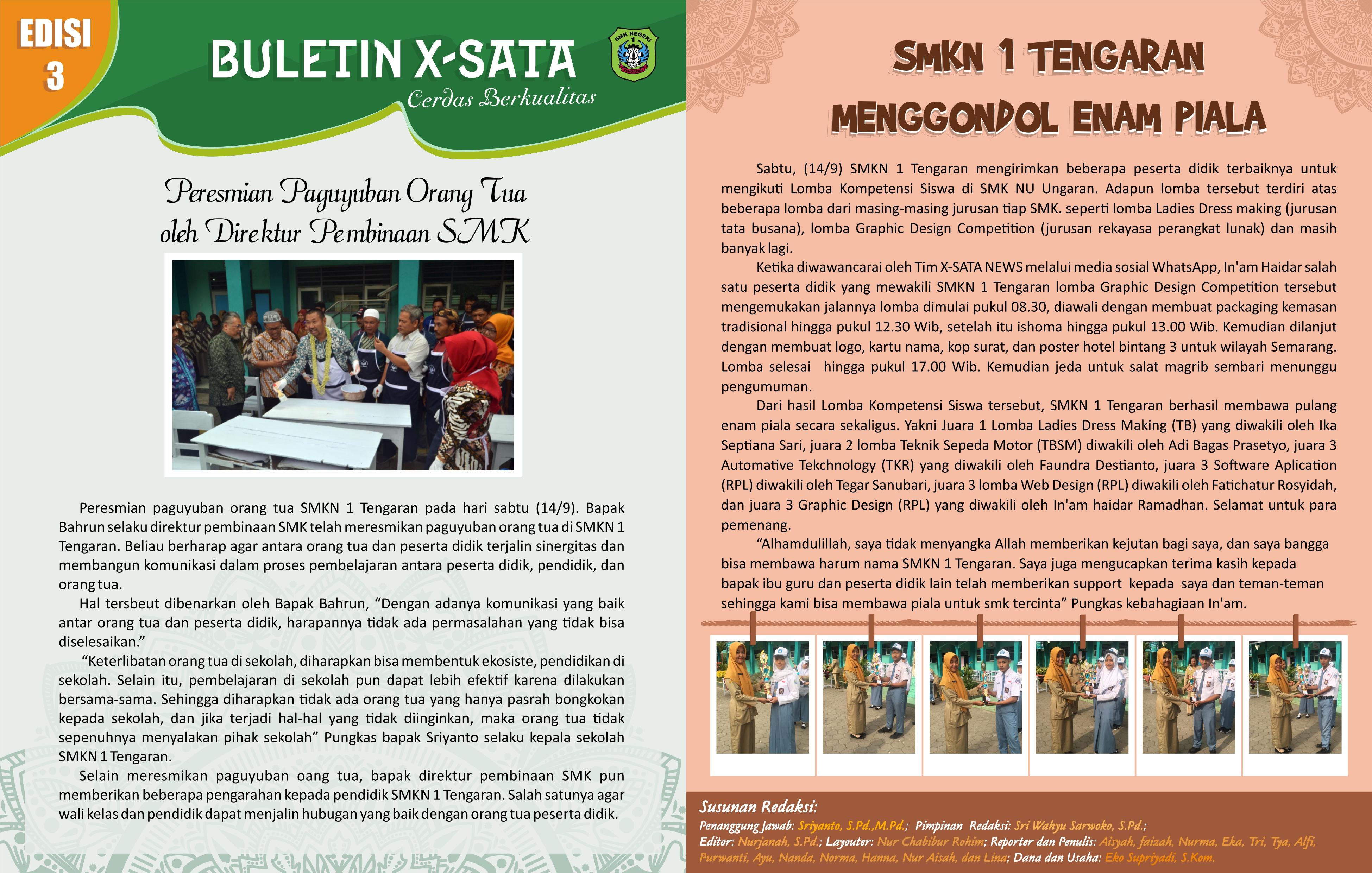 Buletin edisi 3 halaman 1